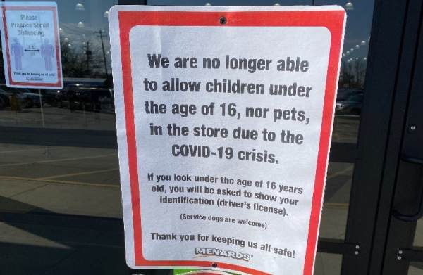 Menards No Longer Allows Children Under the Age of 16 to Enter Their Stores Due to Coronavirus