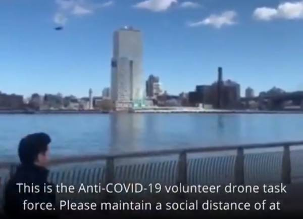 'Reduce the Death Toll and Save Lives' – Drone Seen Flying Over NY Park Barking Orders at People to 'Maintain Social Distancing' (VIDEO)
