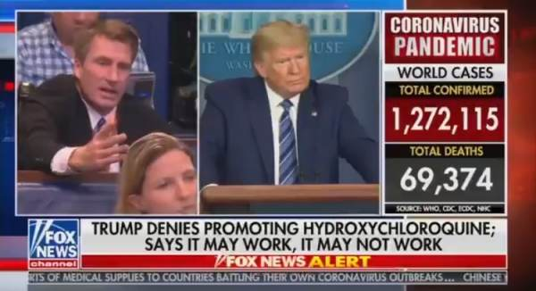 Hack Reporter Asks President Trump About Shutting Down Grocery Stores to Stop Spread of Coronavirus – So We All Can Starve (VIDEO)