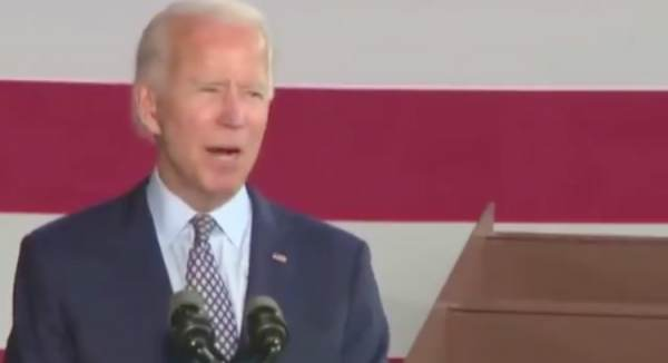 "Biden Doesn't Know How to Say ""Buy American"" – Gets Confused by Rain During Low Energy Campaign Event (VIDEO)"