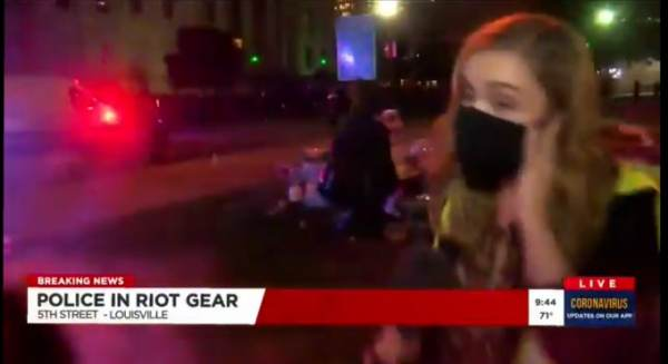 Reporter Kaitlin Rust Shot With Pepper Bullets by Louisville Police Live on Air (Video)