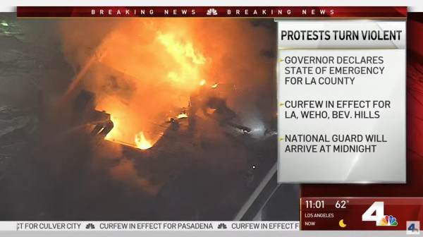 L.A. Up In Flames, Cop Cars Torched, National Guard Moving In