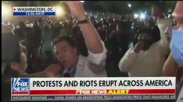Violent Liberal Protest Mob Chases Fox News Reporter From White House