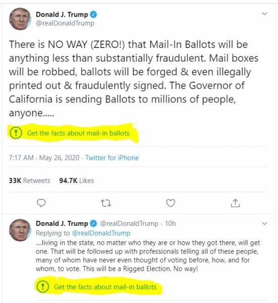 Can't Make This Up! Twitter Removes Fact Check from President Trump's Tweet after It Was Revealed to be Fake News